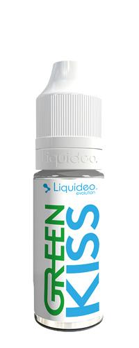 Le E-liquide Green Kiss 10ml by Liquideo, une saveur mentholée avec son duo de menthe verte et la fraicheur de la menthe bleue-Mya-vap