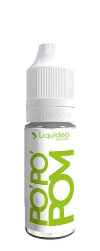 Le E-liquide Po'Po'Pom 10ML by Liquideo, Une pomme au goût acidulée bien juteuse. A vaper sans modération, jour après jour-Mya-vap