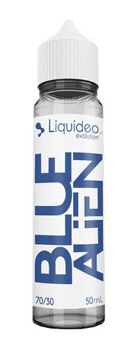 Le E-liquide Blue Alien 50ML by Liquideo, un cocktail Curaçao, framboises et pointe de menthe fraîche-Mya-vap