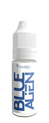 Le E-liquide Blue Alien 10ML by Liquideo, un cocktail Curaçao, framboises et pointe de menthe fraîche-mya-vap