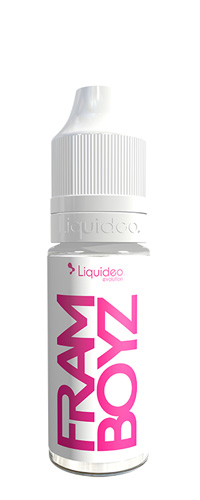 Le E-liquide Framboyz 10ML by Liquideo, Une framboise bien sucrée et juteuse mais aussi acidulée, le tout parfaitement bien dosé-mya-vap