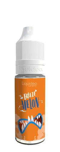 Le E-liquide Freeze Melon by Liquideo, Un sorbet Melon à la chair juteuse et sucrée avec une bonne sensation glacée.