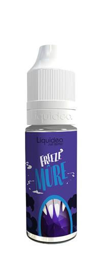 Le E-liquide Freeze Mûre by Liquideo, Un sorbet Mûre acidulées et sucrée avec une bonne sensation glacée. mya-vap