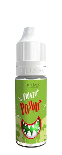 Le E-liquide Freeze Pomme by Liquideo, une pomme à la chair juteuse et sucrée avec une bonne sensation glacée.A vaper sans modération, jour après jour.