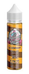 L'e-liquideLe Généreux 50ml par Le Flamant Gourmand de Liquidarom est un Cheese Cake Caramel. Le gâteau anglo-saxon revisité à la francaise-mya-vap